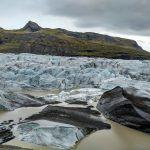 Parque Nacional de Vatnajökull. La cascada Svatirfoss y lagunas glaciares