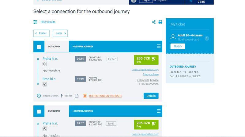 Reservar asiento para Interrail por Internet