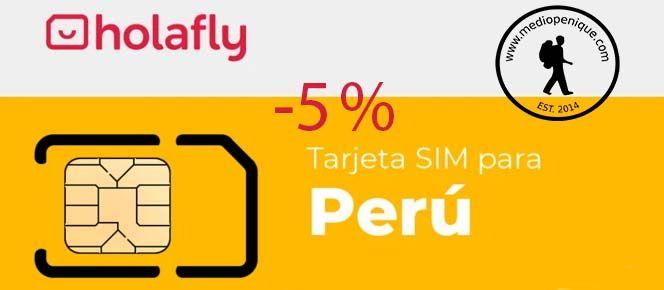 Tarjeta SIM de Holafly para Perú