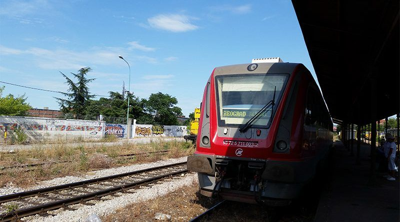 Tren que cogimos en Belgrado durante nuestro Interrail