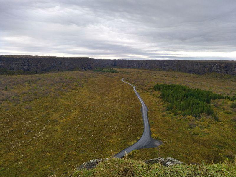 vista panorámica cañón asbyrgi norte de islandia