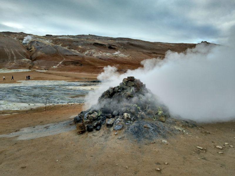 fumarolas zona geotermica hverir