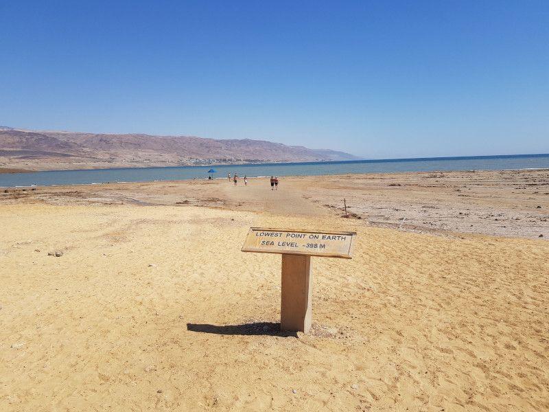 mar muerto punto más bajo de la tierra