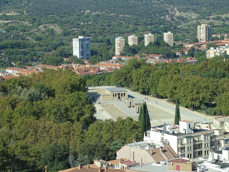 templo debod vista aérea
