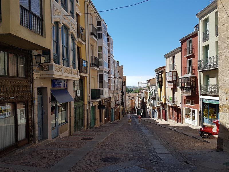 Vistas desde la parte alta de la calle Balborraz