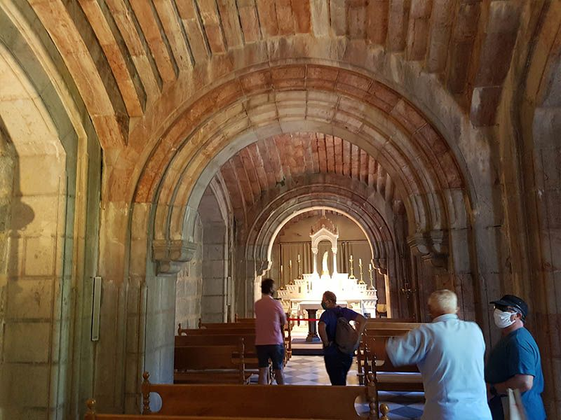 La cripta de la Basílica de Covadonga