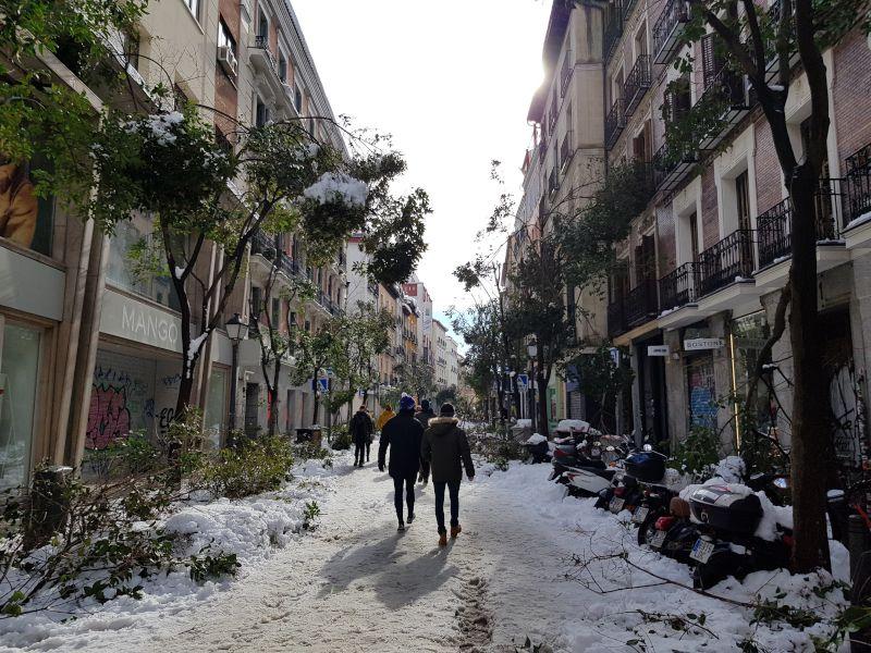 calle fuencarral nevada