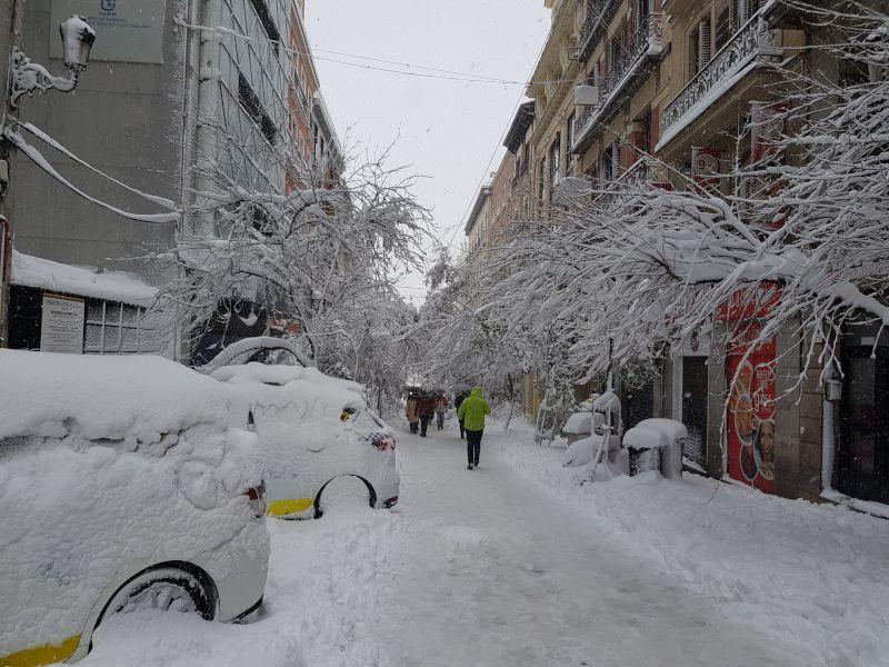 calle montera nieve