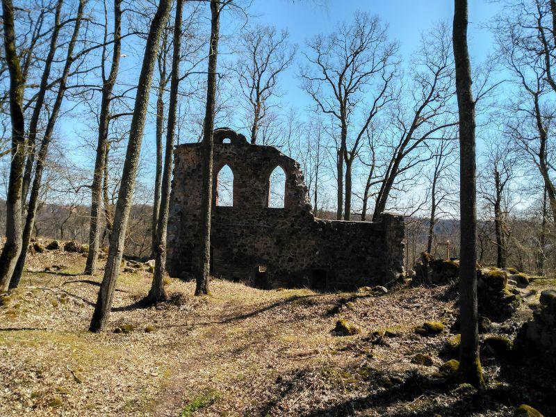 ruinas del castillo de krimulda