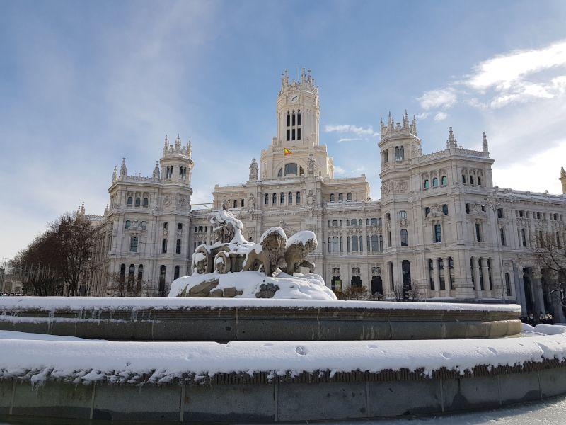 ayuntamiento de madrid nevado