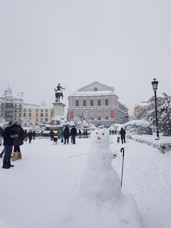 muñeco de nieve en madrid