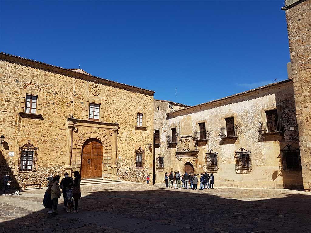 Plaza de Santa María, en Cáceres