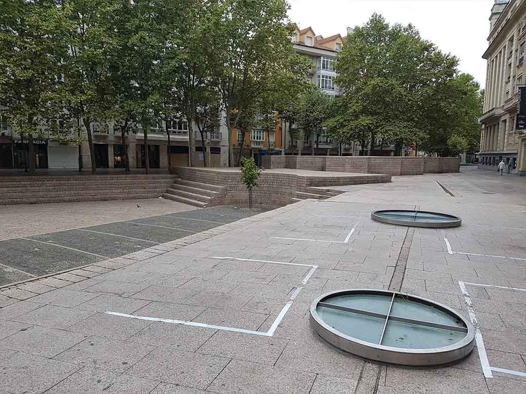 Plaza de los Fueros, en Vitoria