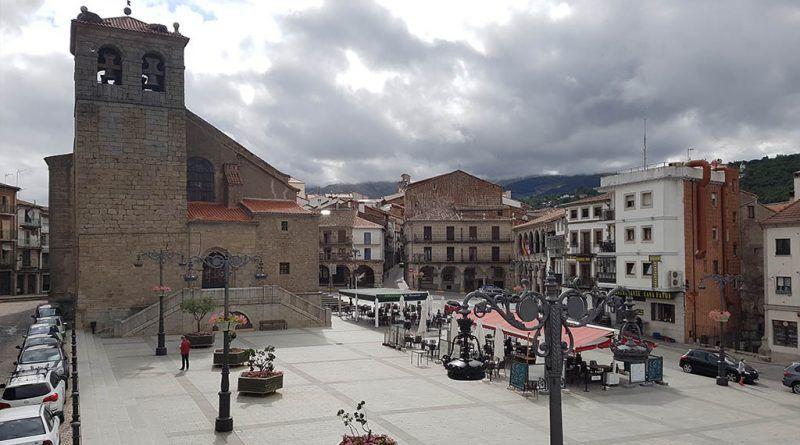 Vista de la plaza Mayor de Béjar